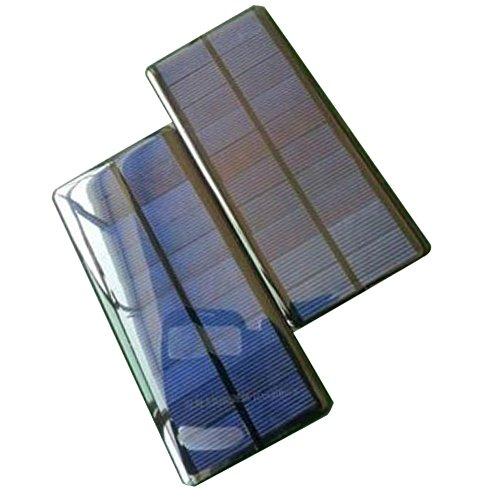 Zimo® 5V 1.2W 240mA Mini Solar Panel Ladegerät Solarmodul DIY Batterie Solarzelle zur Aufladung