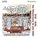 Wassermann Mini 2020: Sternzeichenkalender-Cartoon - Minikalender im praktischen quadratischen Format 10 x 10 cm.