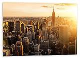 artboxONE Poster 60x40 cm Städte/New York NY-Sky orange
