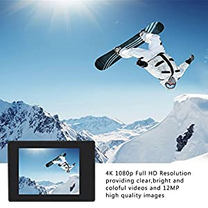 Cámara Deportiva 4k Ultra HD ,WIFI Videocámara, pantalla LCD de 2 pulgadas, cámaras subacuáticas de hasta 30 metros, Cámara de video DV 12MP de 170 ° de gran angular, control remoto 2.4G, EIS, 2 baterías recargables y kits de instalación