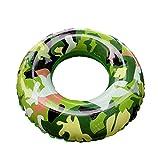 YOUYONGSR Sommer Schwimmen Ring Camouflage Aufblasbare für Erwachsene und Swimmingpool am Meer schwimmen Sicherheit Zug Float Kreis Größe S