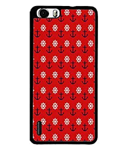 PrintVisa Designer Back Case Cover for Huawei Honor 6 Plus (Anchors In Red And Blue Design)