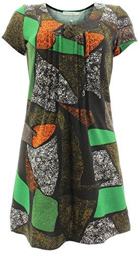 Purplish Strickkleid ABSTRACT DRESS 7058 Mehrfarbig S