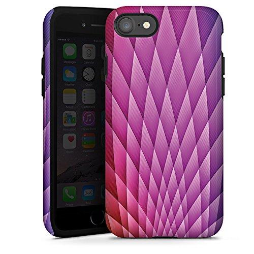 Apple iPhone X Silikon Hülle Case Schutzhülle Muster Farben Illusion Tough Case glänzend
