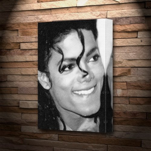 MICHAEL JACKSON - Canvas Print (A5 - Signed by the Artist) #js006