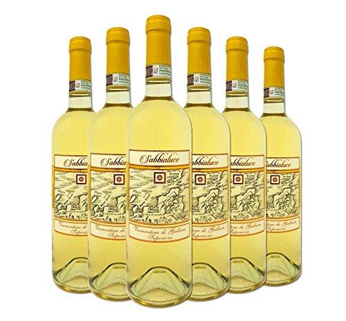 Vino bianco - sabbialuce - vermentino di gallura sardegna d.o.c.g. superiore - vendemmia 2015 - box 6 bottiglie da 75cl cad.