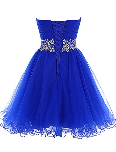 Dresstells, Mini/Court robe de cocktail Robe de demoiselle d'honneur emperlée bustier en cœur Pourpre