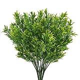 Nahuaa Plastikpflanzen 4 Stücke Künstliche Pflanzen Grün Kunststoff Stäucher Blätter für Blumenarrangements Dekoration Büro Garten Hochzeit Balkon