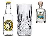 Lucky HANS Bavarian Dry Gin & Tonic Set | 1x Lucky HANS Gin Mini | 1x Thomas Henry Tonic Wasser | 1x Kristallglas | Auch perfekt als Geschenk