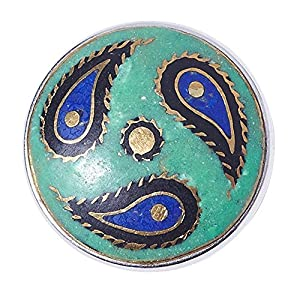 Noosa Chunk RAINDROP turquoise- brass