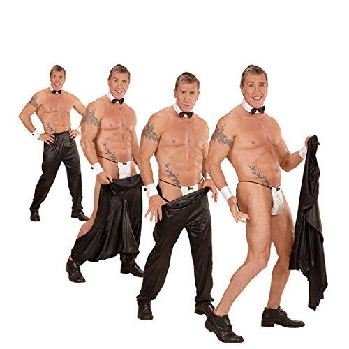 Amakando Stripper Hose Strip Pants Junggesellinnenabschied XL 54 Striphose Junggesellenabschied Sexy Stripperhose Karnevalskostüme Herren Geburtstag Stoffhose Lederlook Strip Herrenhose ()