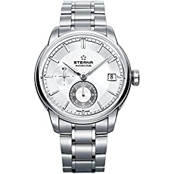 Eterna–adventic GMT Manufacture Fecha–Reloj de pulsera analógico automático para hombre 7661.41.66.1702