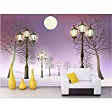Simple Night Street Light3D Wallpaper Background Hd Mural Home Decoration Living Room Bedroom Environmental Protection Material Seamless Mural Decal Waterproof Material