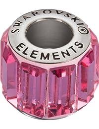 Grand Trou Perles de Verre a enfiler de Swarovski Elements 'BeCharmed Pave' 10.5mm (Rosé, Acier affiné), 12 Pièces