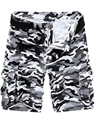 Demarkt Europe and America in Camouflage Cargo Shorts