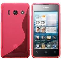 Luxburg® S-Line Design Schutzhülle für Huawei Ascend Y300 in Farbe Erikaviolett / Rosa, Hülle Case aus TPU Silikon
