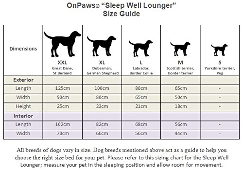 On-Paws-Sleep-Well-Lounger-5-sizes-2-colours-Dark-Blue-Dog-Bed-Size-S-50-x-40-cm