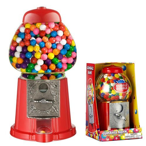 GUMBALL VENDING MACHINE DISPENSER SWEET BUBBLEGUM FUN KIDS TOY CHEWING GUM NEW by eBuzz LTD