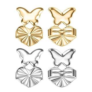 Ohrring Stopper - ANGTUO 2 Paar Ohrring zurück Magic Butterfly Ohrring Rücken Heber Einstellbare Hypoallergen Ohrring Rückenstütze