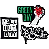 Set_ROCK007 - My Chemical Romance Patches, Fall Out Boy Patches and Green Day Patches, 3 Pcs Heavy Metal Patches, Applique Embroidered Patches - Rock Band Iron on Patches by Asian 108 Markets