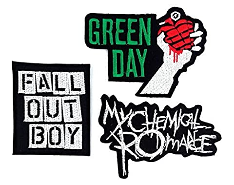 Set_ROCK007 - My Chemical Romance Patches, Fall Out Boy Patches