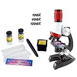 Kinder Mikroskopieren Kit Spielzeug mit LED