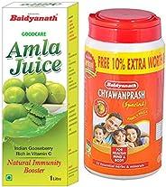 Baidyanath Amla Juice - 1 L & Baidyanath Chyawanprash Special - 2 kg With 10% Extra