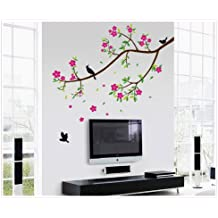 UberLyfe Tree with Flowers Wall Sticker Size 4 (Wall Covering Area: 100cm x 150cm) - WS-444
