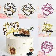"""Birthday cake decoration""""Happy Birthday"""" acrylic inserts, 6 pieces Birthday cake decoration items (g"""
