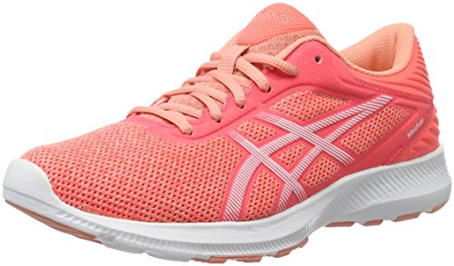 Asics Nitrofuze, Chaussures de Running Compétition Femme, Orange (Peach Melba/White/Flash Coral), 39 EU