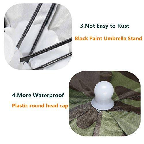 ELEGIANT Faltbare Sonnenschirm Regenschirm Hut Regenhut Sonnenhut für Outodoor Sport Golf Angeln Camping Mütze Kopfbedeckung - 5