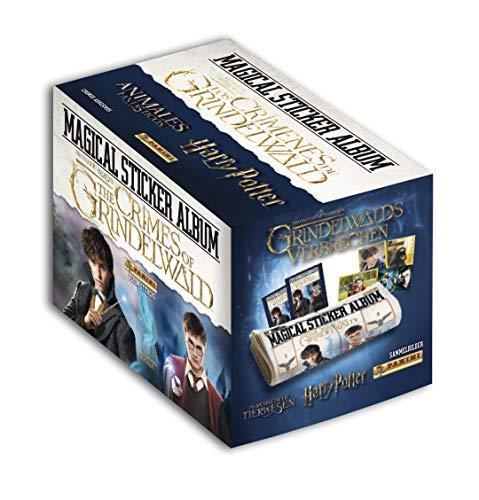 Panini-50 Tüten mit 5 Stickern, Harry Potter Fantastische Tiere 2, 2426-004