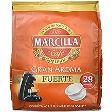 Marcilla Gran Aroma Fuerte. 5 packs de 28 monodosis cada uno. Total: 140 monodosis