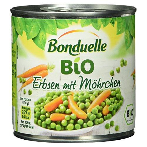 Bio-erbsen (Bonduelle Bio Erbsen mit Möhrchen 265 g)