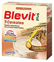 Blevit Plus Superfibra 5 Cereales - Paquete de 2 x 300 gr - Total: 600 gr