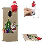 ZCXG Galaxy A5 2018 Hülle,Hülle Silikon Transparent Motiv 3D Weihnachtsthema Madam Weihnachtsgeschenke Kinder Geschenk Frauen Handyhülle für Samsung Galaxy A5 2018 - Weihnachtsgeschenk