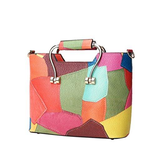 Anguang Damen Handtaschen Fashion Handtaschen für Frauen PU Leder Schulter Taschen Messenger Tote Taschen Gelb