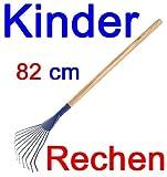 Kinder Gartenrechen Metall mit Holzstiel, Kinder Garten Spielzeug Laub Rechen (LHS)