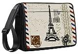 """Luxburg® borsa a tracolla computer portatili e notebook, design di lusso, 43,2cm Eiffel Tower 17"""""""