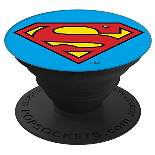 Preisvergleich Produktbild Popsocket: Ausziehbarer Sockel und Griff für Smartphones und Tablets - Superman Icon
