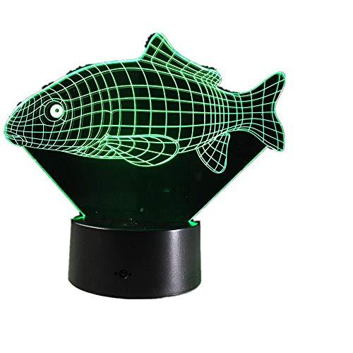 Wangzj 3d visuelle illusion lampe/acryl nachtlicht/led fee farbwechsel usb licht lampe/asiatischen karpfen -