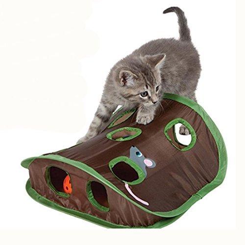 icase4u® Katzenspielzeug katzen Maus Rattenloch Interaktives Spielzeug