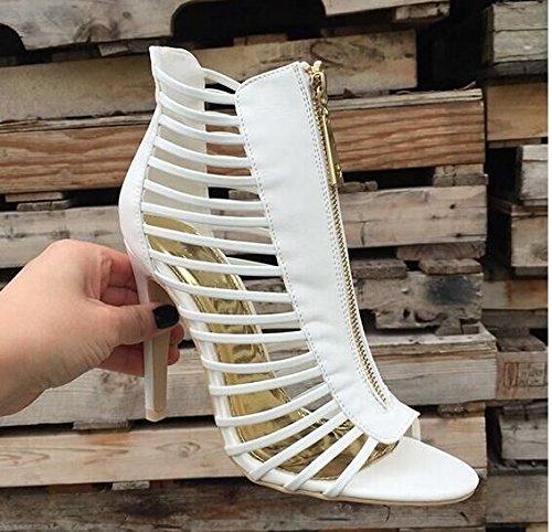 Sandali striscia bianco puro con moda Stivali White