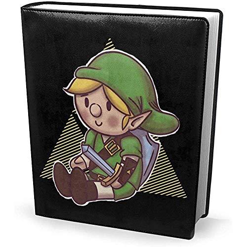 Funda de libro 9x11 pulgadas Hero Plush Link Triforce Legend of Zelda - Estirable lavable reutilizable