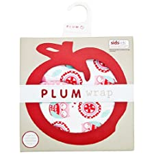 Plum Collections Baby Mädchen Baumwolle Jersey Comfort Wickeltuch Love groß Eule Design