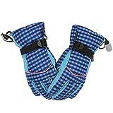 YDS SHOP Ski-Handschuhe, Wanderer Frauen-Hand Kleinere Lady wasserdicht Winddicht Kleine Grid Warm Sport Handschuhe for Skifahren, Snowboarden, Radfahren, 1 Paar (Color : Blue)