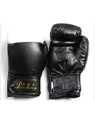 transpirable/ el niño SandaPU guantes de boxeo/Botas-negro