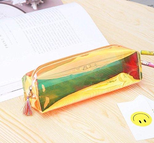 Preisvergleich Produktbild Mytobang 1 PCS Bleistift Kasten Art- und Weiseholographischer Laser Bleistift Kasten Feder Halter Verfassungs Kasten Reißverschluss häusliche Aufbewahrungsbeutel Büro Schule Briefpapier