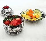 H-Store Stainless Steel Collapsilble Steamer & Multipurpose Basket Fruits Vegetables, Adjustable To Fit Container, Water Drainer, Kitchen Utensils, Modak Food Boiler Cooker