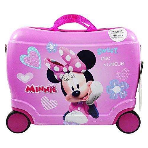 Disney Minnie Fabulous Trolley Rigido Cavalcabile da Viaggio con Quattro Ruote